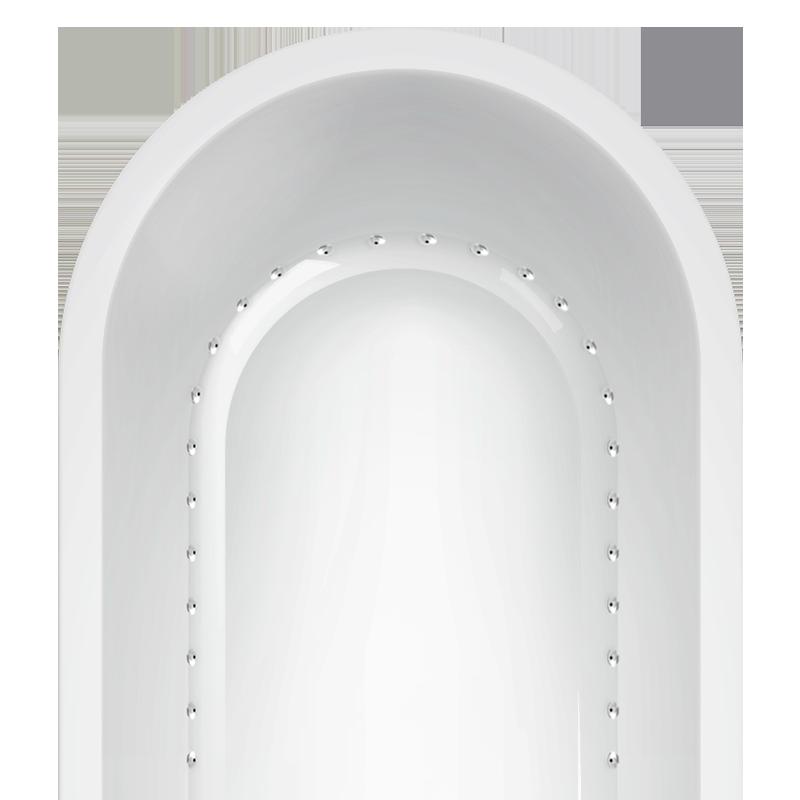 Lateral Air jet bathtub